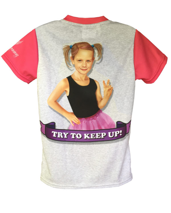 Fancy Running - Run like a Girl Running Shirt - Kids