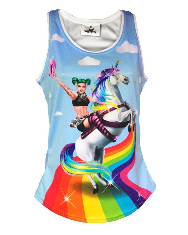 Fancy Running - Badass Unicorn Rider Running Vest - Front