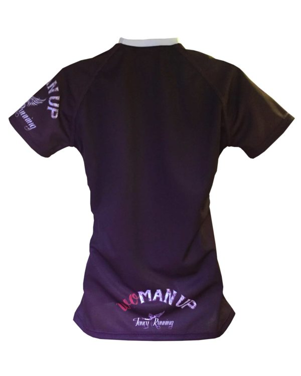 Fancy Running - Woman Up Running Shirt - Aubergine- Back