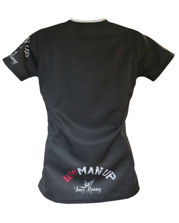 Fancy Running - Woman Up Running Shirt - Grey - Back