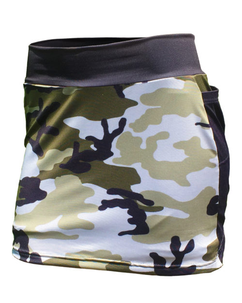 Fancy Running - Camo Skort - Green - Front