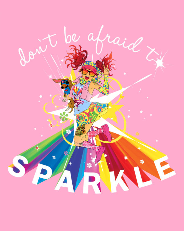 Don't Be Afraid To Sparkle Vest - Pink