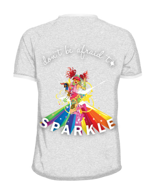 Dont be afraid to sparkle - Mens running shirt - Fancy Running