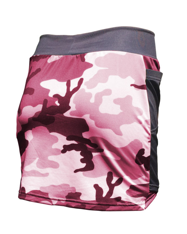 Fancy Running - Camo Skort - Pink - Back
