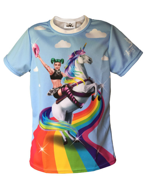 Fancy Running - Unicorn Rider Running Shirt - Kids - Front