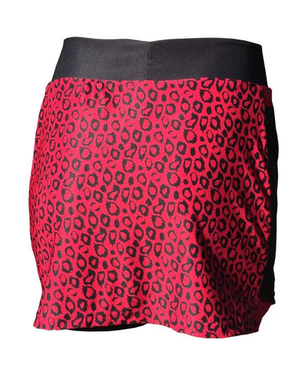 Fancy Running - Leopard Print Skort - Pink - Back