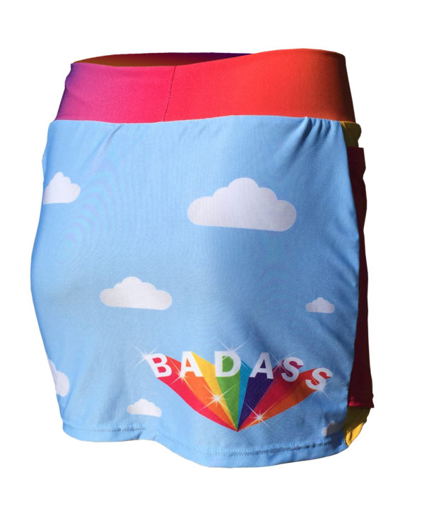 Fancy Running - Badass Unicorn Rider Skort - Blue - Back