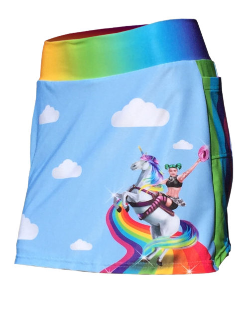 Fancy Running - Badass Unicorn Rider Skort - Blue - Front