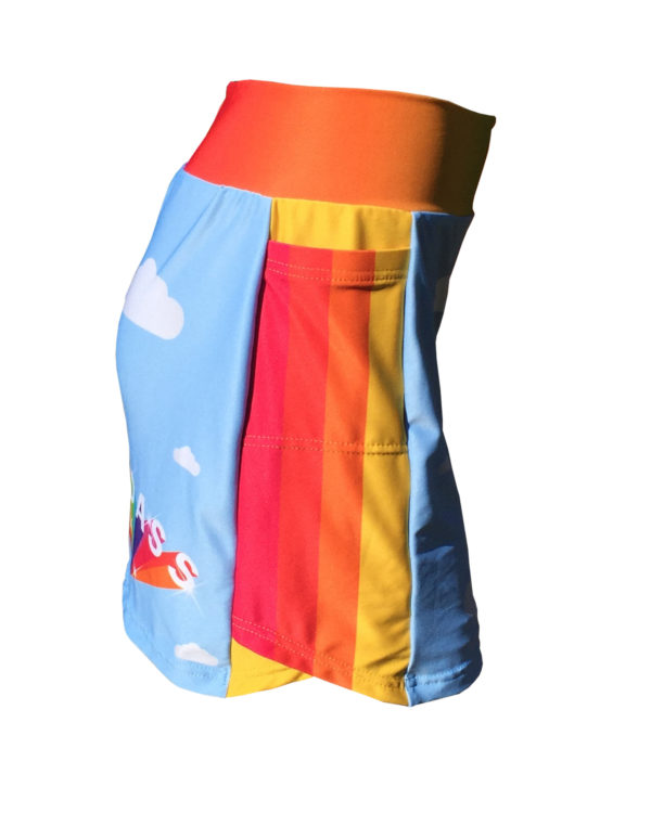 Fancy Running - Badass Unicorn Rider Skort - Blue - Side