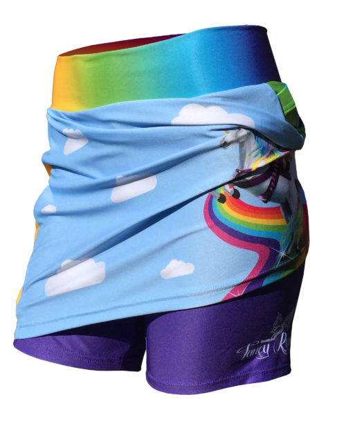 Fancy Running - Badass Unicorn Rider Skort - Blue - Shorts
