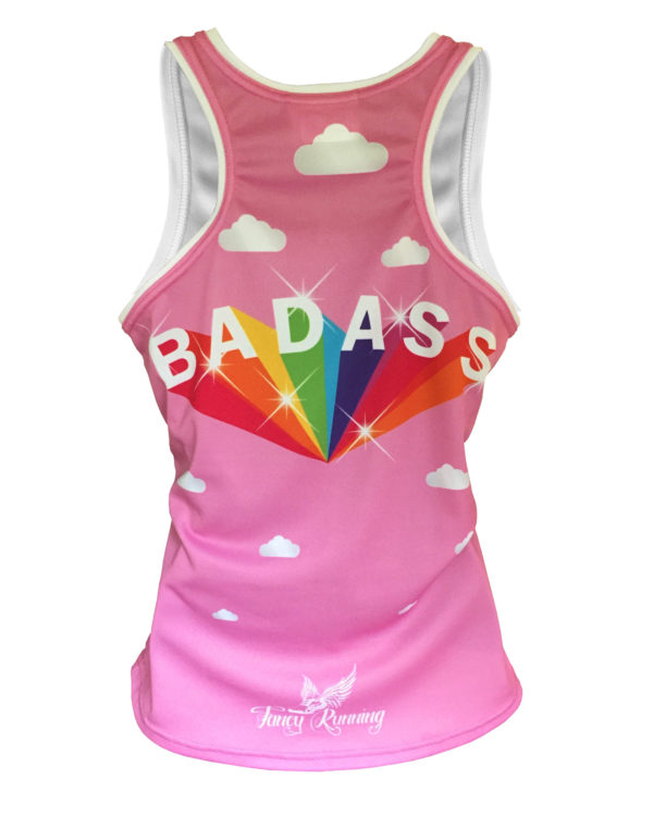 Fancy Running - Badass Unicorn Rider Running Vest Pink - Back