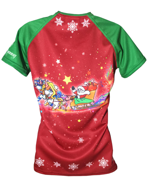 Fancy Running - Festive Unicorn Running Shirt - Back