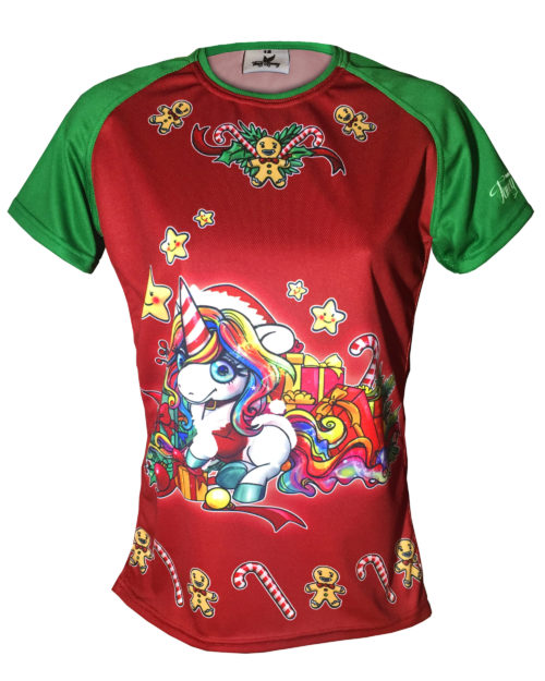 Fancy Running - Festive Unicorn Running Shirt - Front