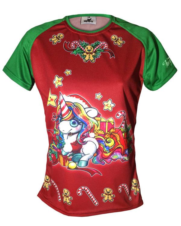 Fancy Running - Festive Unicorn Running Shirt - Front