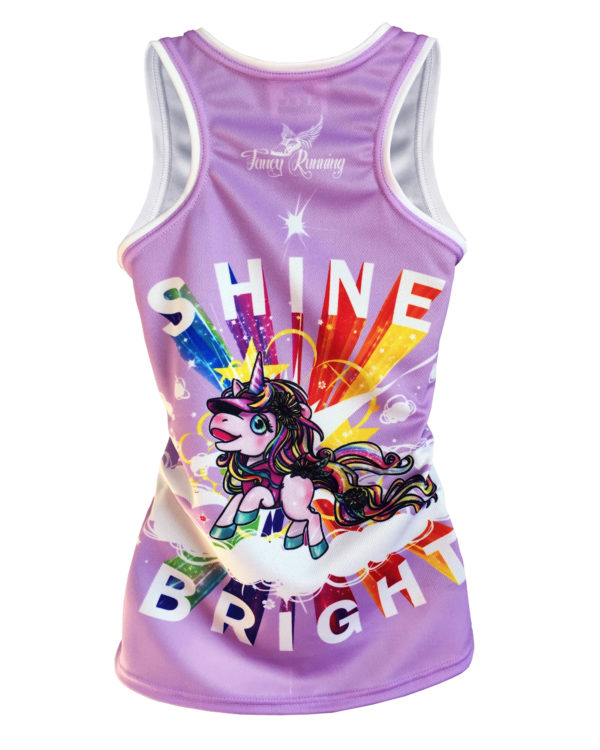 Fancy Running - Shine Bright - Unicorn Running Vest - Back