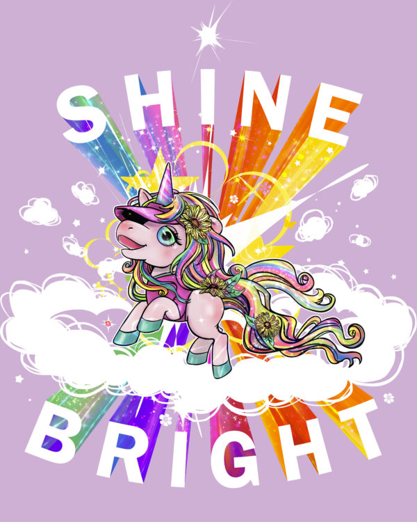 Fancy Running - Shine Bright - Unicorn Running Vest - Back Detail