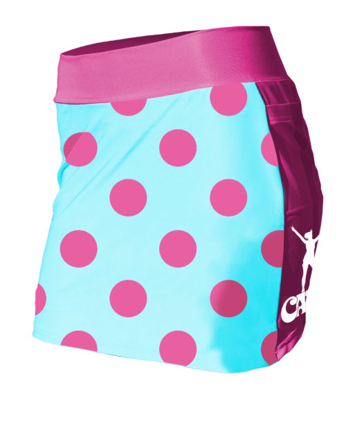Fancy Running - Catra - Raspberry Dots Running Skort - Front
