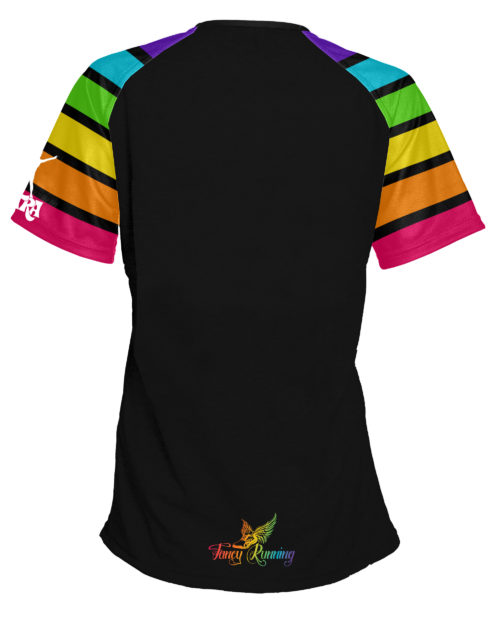 Fancy Running - Catra - Rainbow Vibes Running Shirt - Back