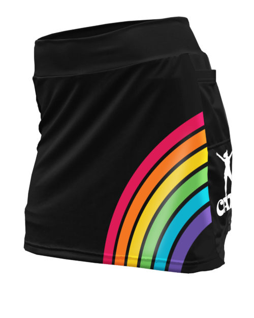 Fancy Running - Catra - Rainbow Vibes Running Skort - Front