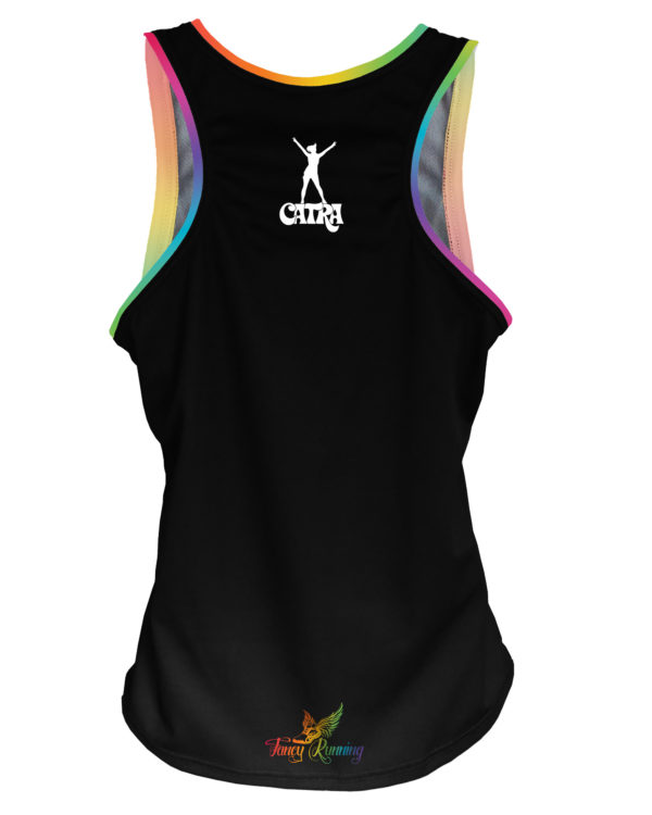 Fancy Running - Catra - Rainbow Vibes Running Vest - Back