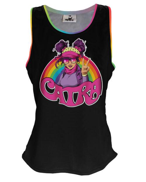 Fancy Running - Catra - Rainbow Vibes Running Vest - Front