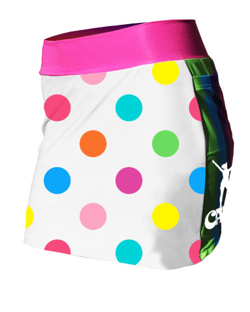 Fancy Running - Catra - Rainbow Dots Running Skort - Front