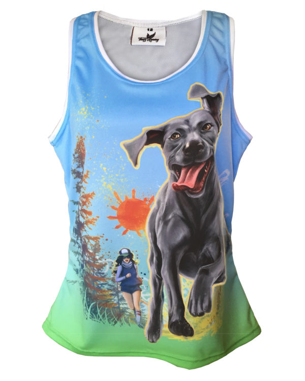 Fancy Running - Time to Paws Running Vest - Front