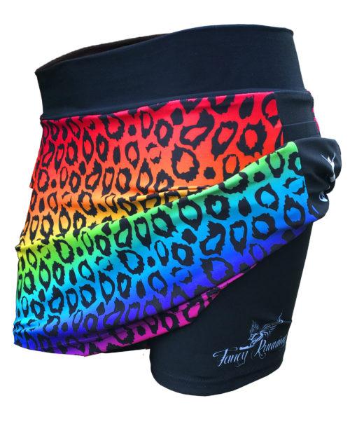 Fancy Running - Catra Corbett - Rainbow Leopard Print Running Skort - Shorts
