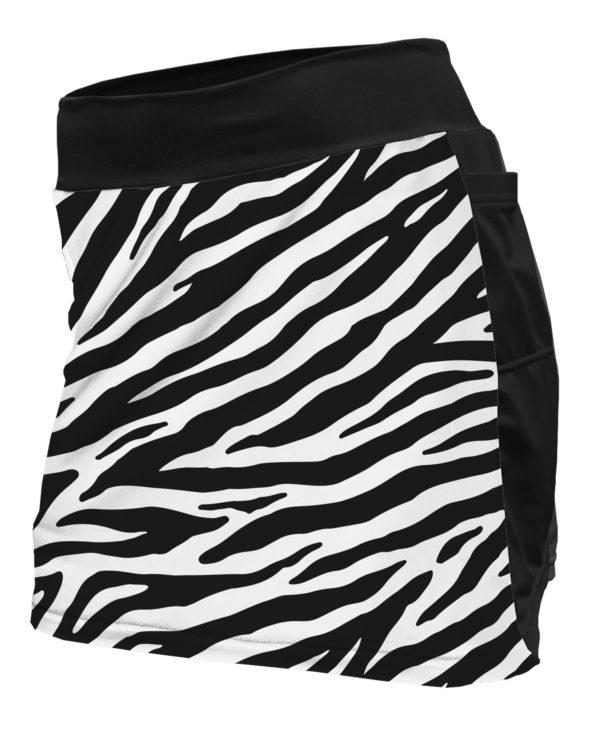 Fancy Running - Zebra Print Running Skort - Front