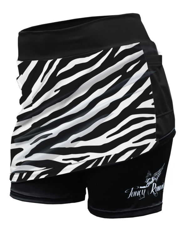 Fancy Running - Zebra Print Running Skort - Shorts