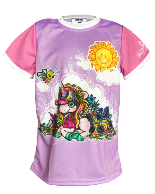 Fancy Running - Kids Shine Bright Unicorn Running Shirt