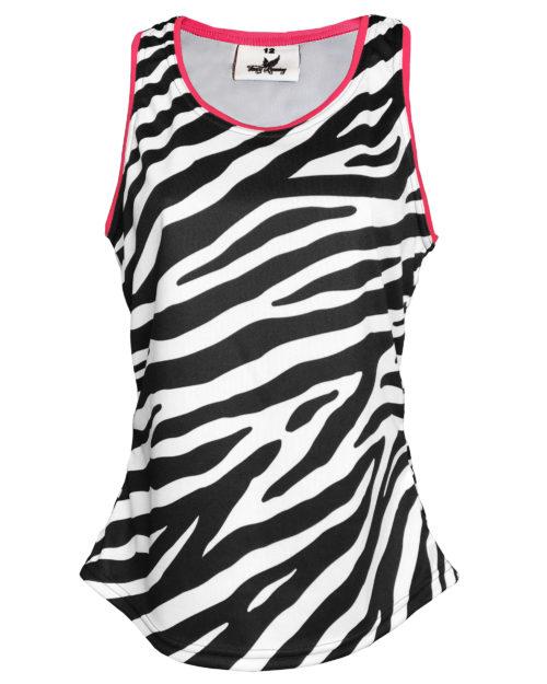 Fancy Running - Zebra Print Running Vest