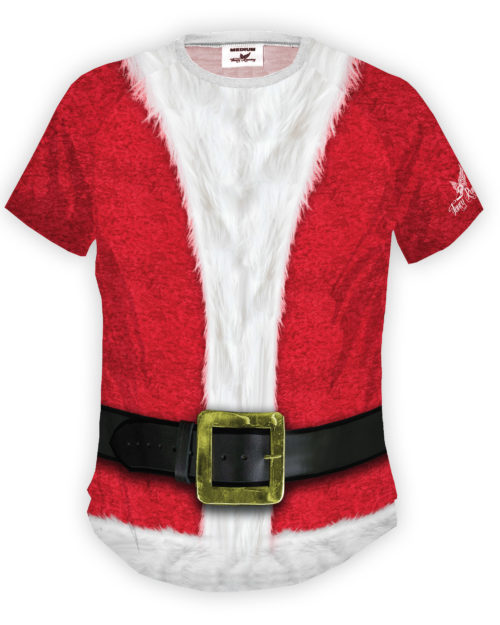Fancy Running Santa Mens Running Shirt Front