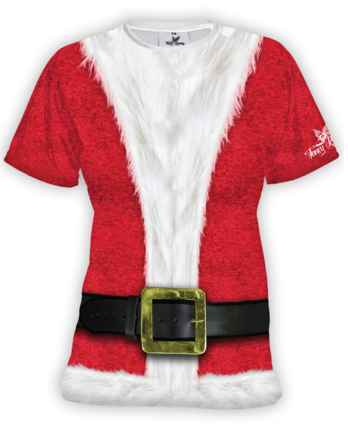 Fancy Running Santa Womens Running Shirt Front