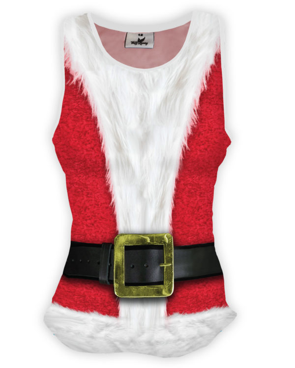 Fancy Running Santa Womens Running Vest Front