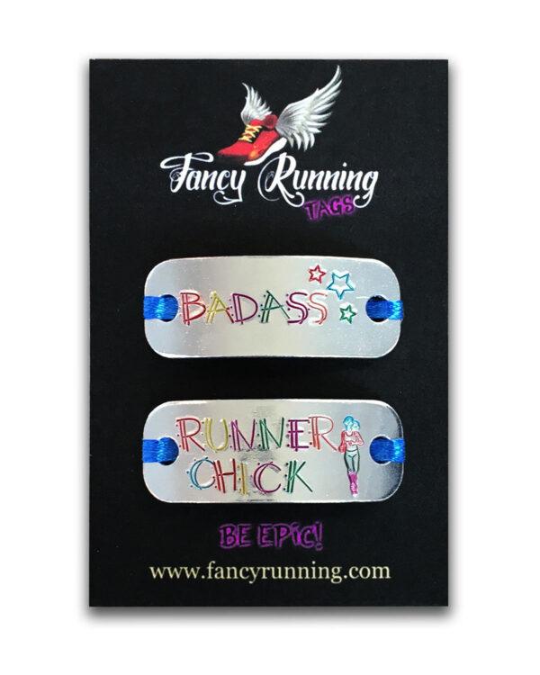 Fancy Running Trainer Tags - Badass / Running Chick