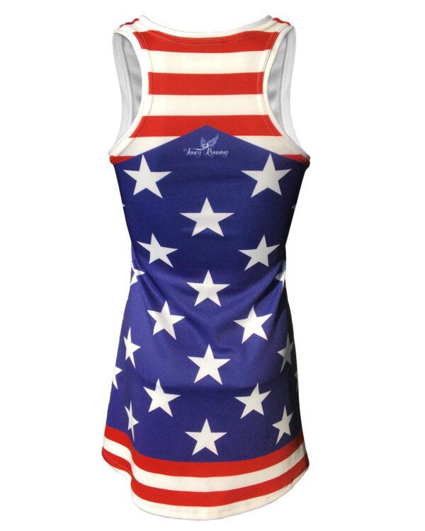 Fancy Running Stars 'n' Stripes Womens Running Dress Back