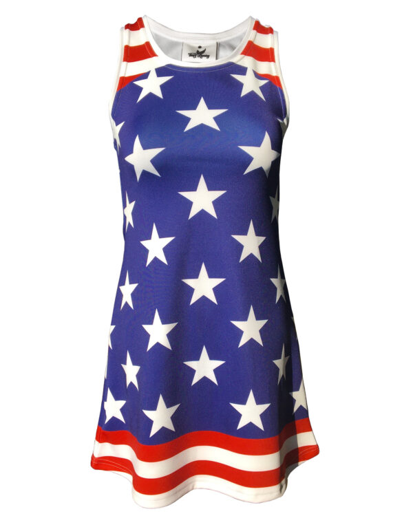 Fancy Running Stars 'n' Stripes Womens Running Dress Front