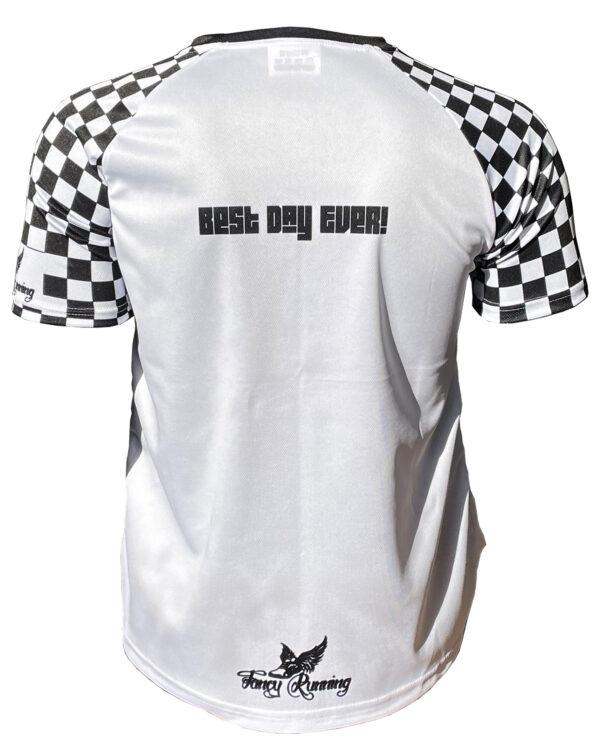 Fancy Running Best Day Ever Men's Running Shirt Back