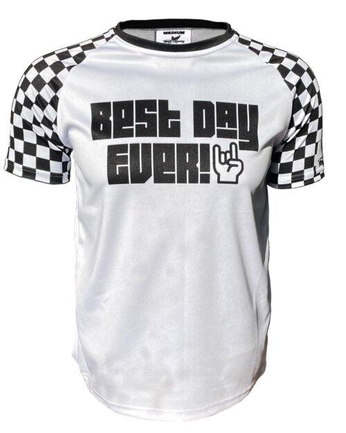 Fancy Running Best Day Ever Men's Running Shirt Front