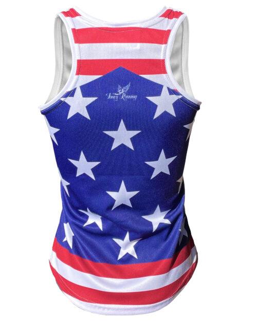 Fancy Running Stars 'n' Stripes Womens Running Vest Back