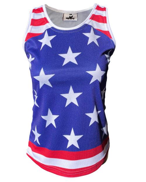 Fancy Running Stars 'n' Stripes Womens Running Vest Front